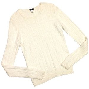 J. Crew Wool & Cashmere Blend Cable-Knit Sweater